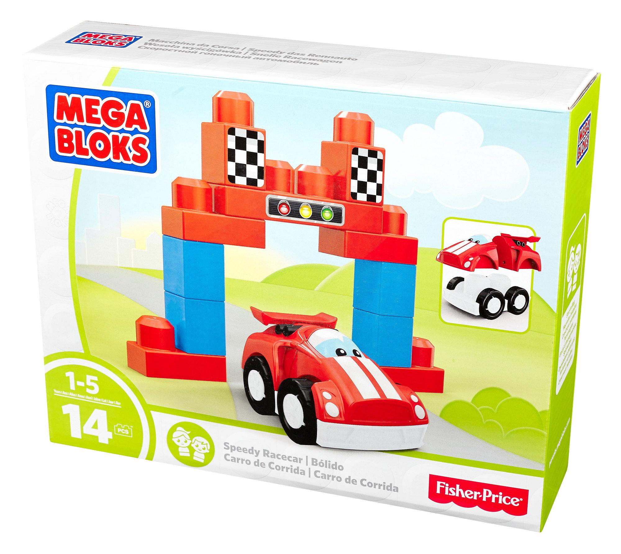 Mega Bloks First Builders Speedy Racecar Building Set Mega Bloks First Builders Speedy... by Mattel