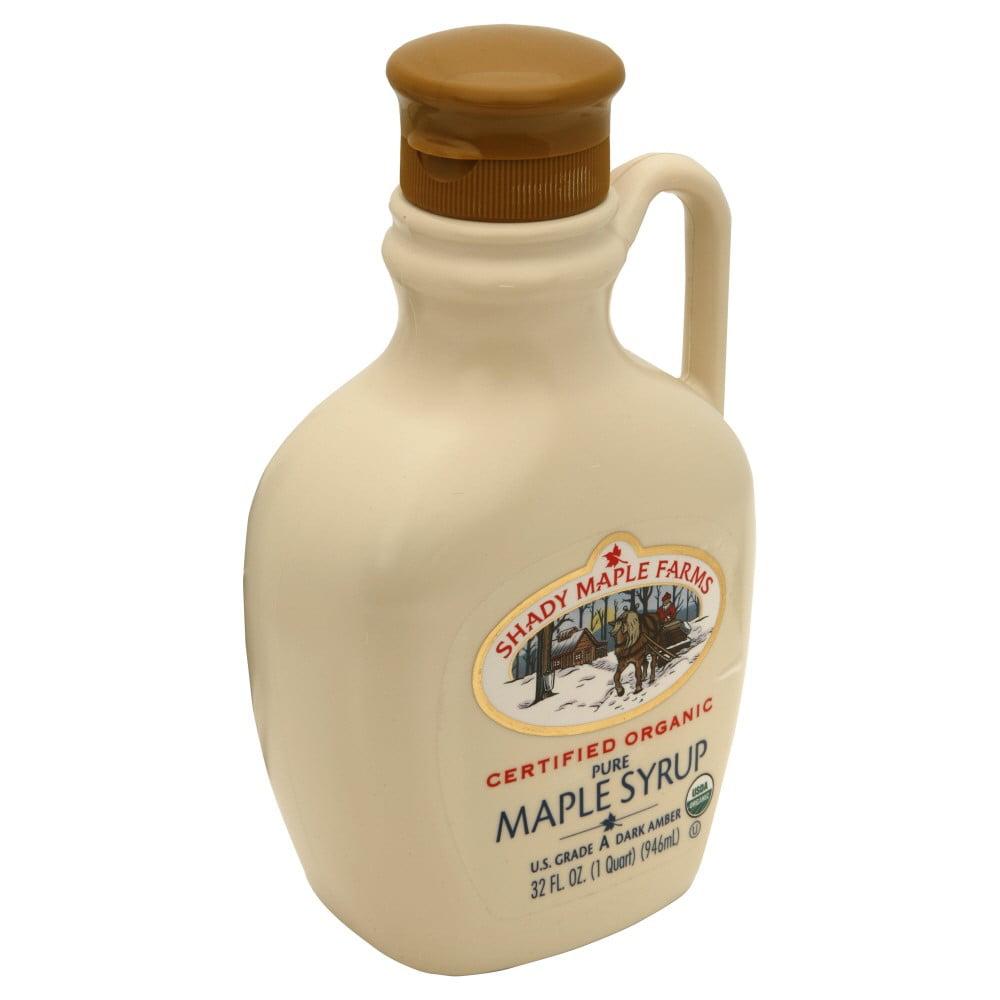 Shady Maple Farms Organic Dark Maple Syrup 32 Ounce.