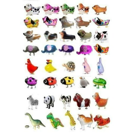 MY BALLOON STORE® TM SET OF 100 WALKING ANIMAL BALLOONS PET AIR WALKER HELIUM PARTY DECOR FUN - Price Of Balloons