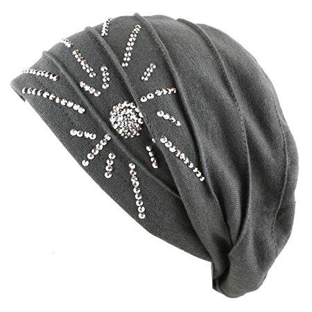 The Hatdeƿot Women s Knit Handmade Fleece Lined Slouchy Baggy Beanie Skully  Hat 5267eb2eef9