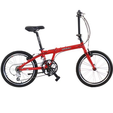 Hasa Folding Foldable Bike Shimano 18 Speed 20 Inch Red