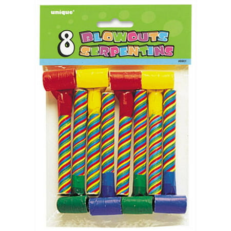 Candy Striped Party Blowers, 8ct (Party Blowers)