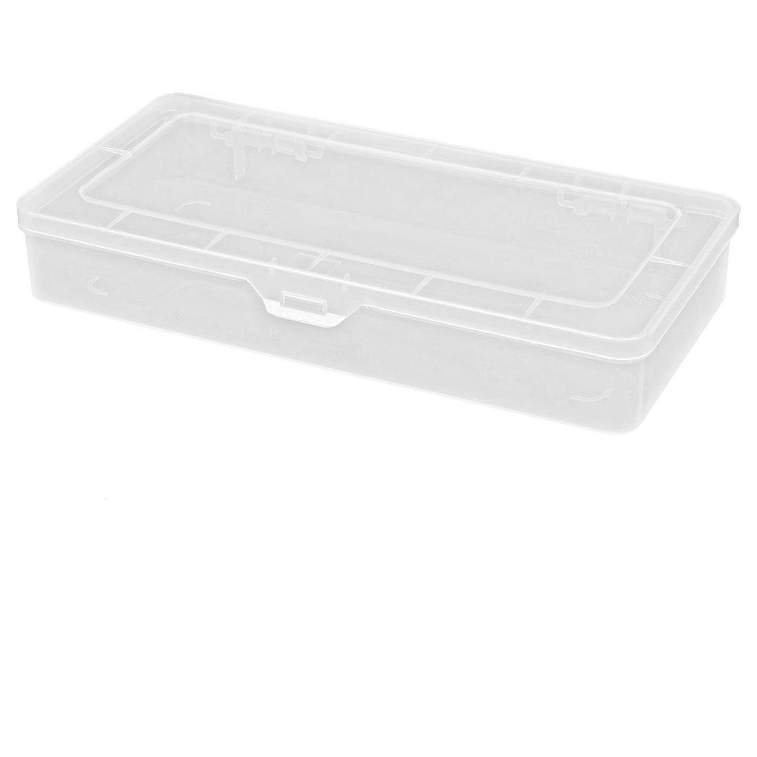 "Unique Bargains Plastic Jewelry Electronic Component Storage Clear Box Case 10"" x 4.7"" x 1.6"
