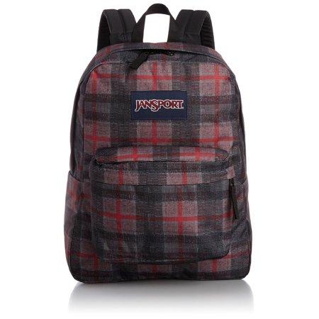 Jansport Jansport Superbreak Backpack Red Tape Knit Plaid