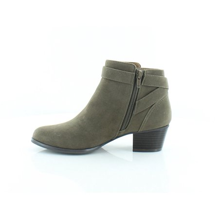 Womens Oleesia Leather Closed Toe Ankle Fashion Boots