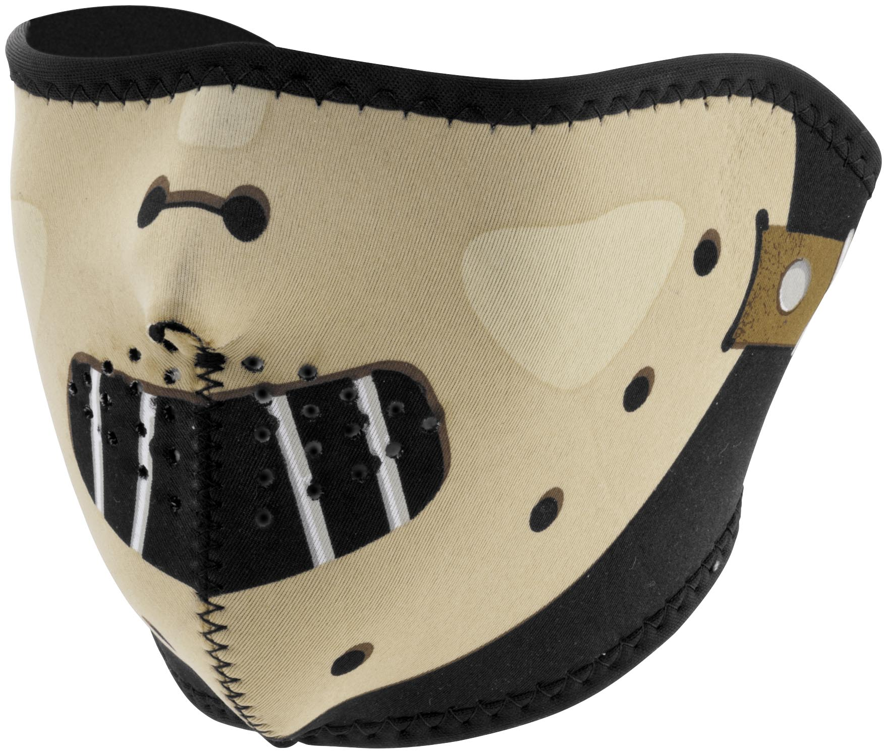 Zan Headgear Half Face Mask Hannibal (Brown, OSFM) by Zan Headgear