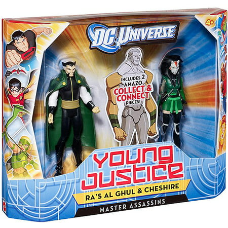 DC Universe Young Justice Ra's Al Ghul and Cheshire Action Figures, Set of 2 - Robin Young Justice