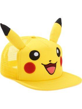Product Image Pikachu Snapback Trucker Hat with Embroidered Pikachu Face 1ebd4c696150
