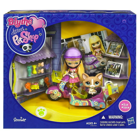 Littlest Pet Shop Blythe Scooter Set - Includes Doll Figure, Corgi Pet, Scooter & Accessories - Lps Dog