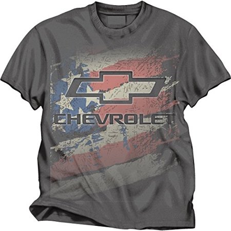 0ec2411d5 Checkered Flag - Chevy Logo American Flag T-Shirt - Walmart.com