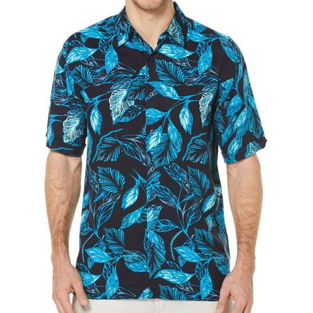 1f64b84b64 Cubavera Black Mens Guayabera Allover Tropical Shirt - Walmart.com