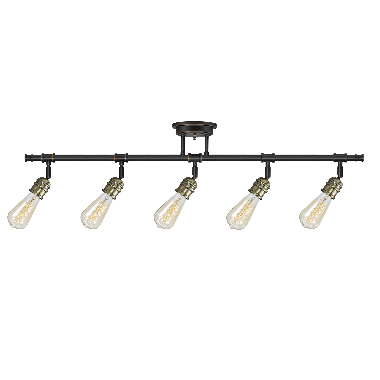 Globe Electric Rennes 5-Light Oil Rubbed Bronze Track Lighting, Bulbs Included, 59328 by Globe Electric