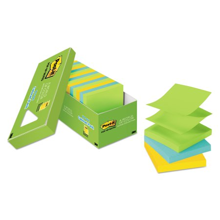 Post-it Pop-up Sticky Notes Cabinet Pack, 3in. x 3in., Jaipur Colors for $<!---->