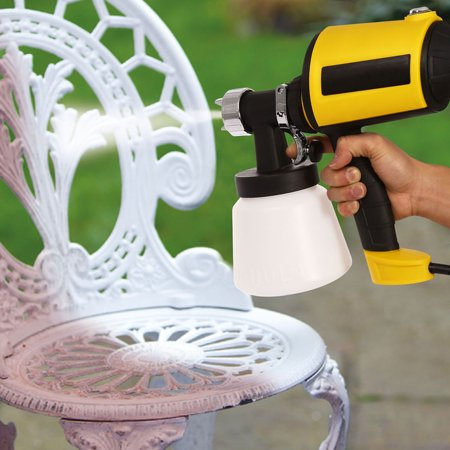 Hifashion Electric Paint Sprayer Gun Power Painter 400 Watt HVLP Spray Gun Kit for Home, 3 Nozzle Sizes, Lightweight, Easy Spraying and Cleaning, Perfect for Beginner (US Stock) Yellow ()