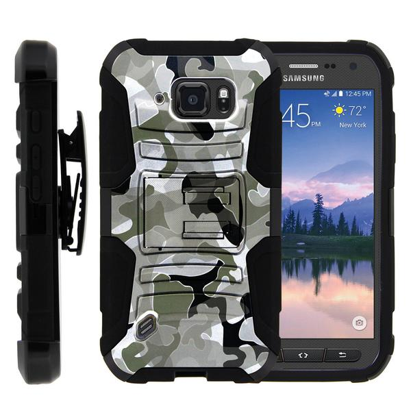 Samsung Galaxy S6 Case | G920 Case [ Clip Armor ] Rugged Impact Defense Case with Built in Kickstand and Holster - Swamp Camouflage