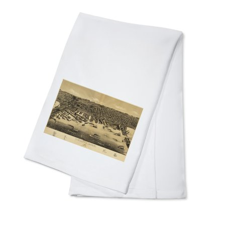 Duluth  Minnesota    1887    Panoramic Map  100  Cotton Kitchen Towel