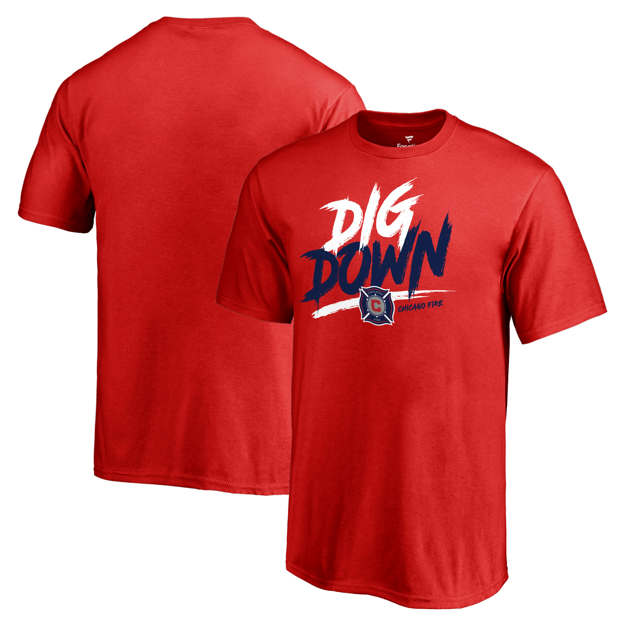 Chicago Fire Fanatics Branded Youth Dig Down T-Shirt - Red
