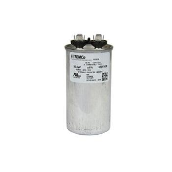 temco motor run capacitor rc0015-50 mfd 370 v vac volt 50 uf round hvac temco ac (370 Car)