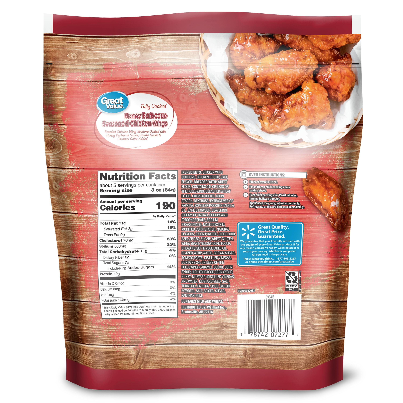 Honey Barbecue Seasoned Chicken Wings