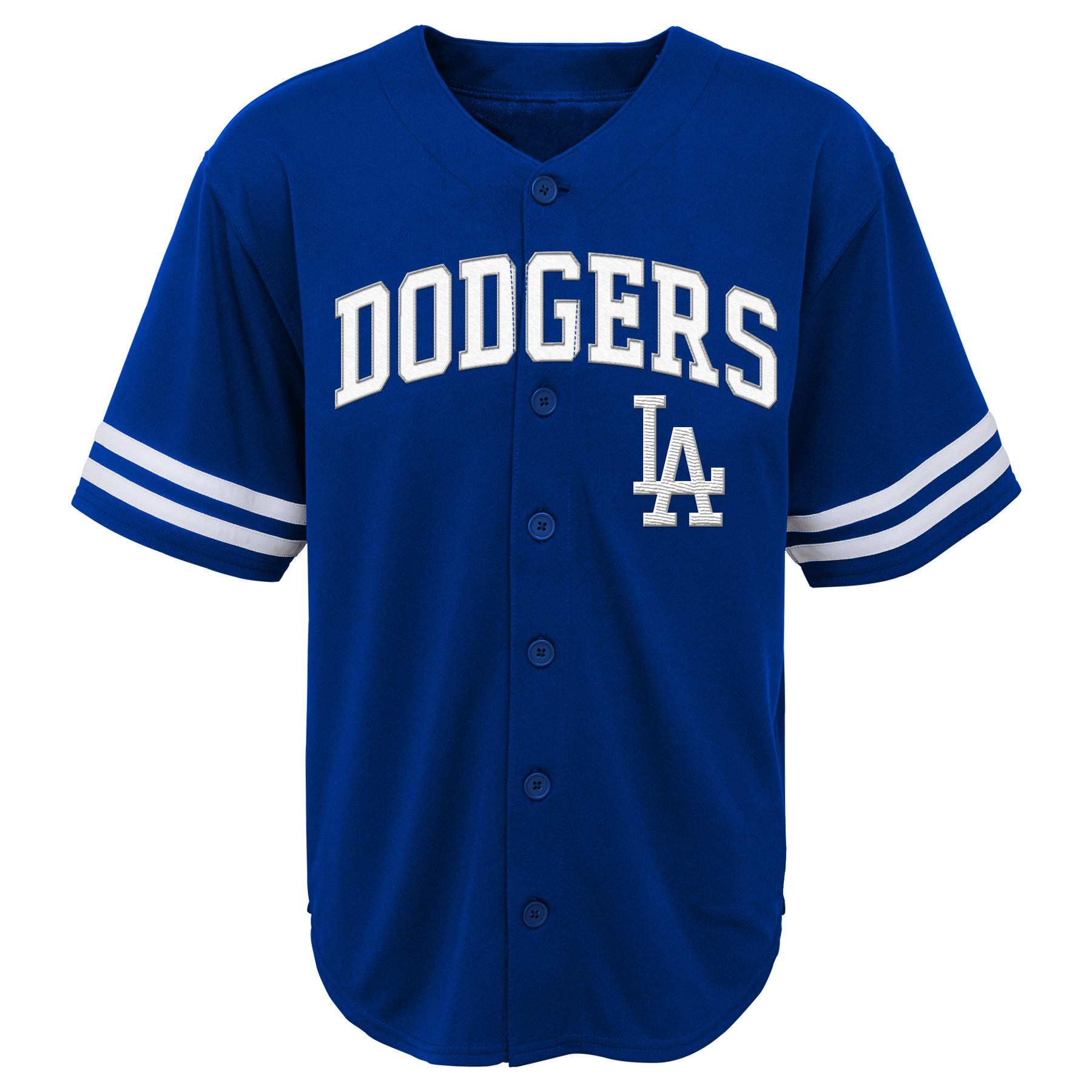 MLB Los Angeles DODGERS TEE Short Sleeve Boys Fashion Jersey Tee 60% Cotton 40% Polyester BLACK Team Tee 4-18