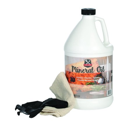 100% Pure Food Grade Mineral Oil - USP Certified and NSF Approved Butcher Block and Cutting Board Oil - 1 Gallon with Free Application Cloth and