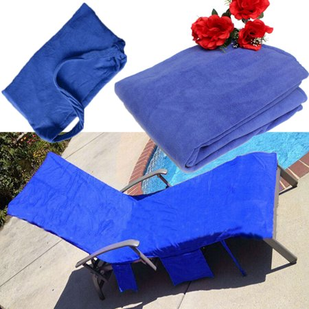Sunshine Sun Lounger Beach Towel Spa Bath Swimming Thick w/ Pocket Bag Holiday Lounge Home Cotton - Swim Poncho Towel