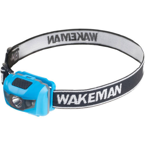 LED 4 Mode Headlamp, Lightweight Flashlight with 80 Lumen and COB Bulbs By Wakeman Outdoors