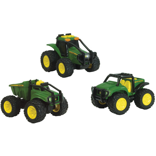 """John Deere Monster Treads 4"""" Ground Force Gator and Tractor Play Set"""
