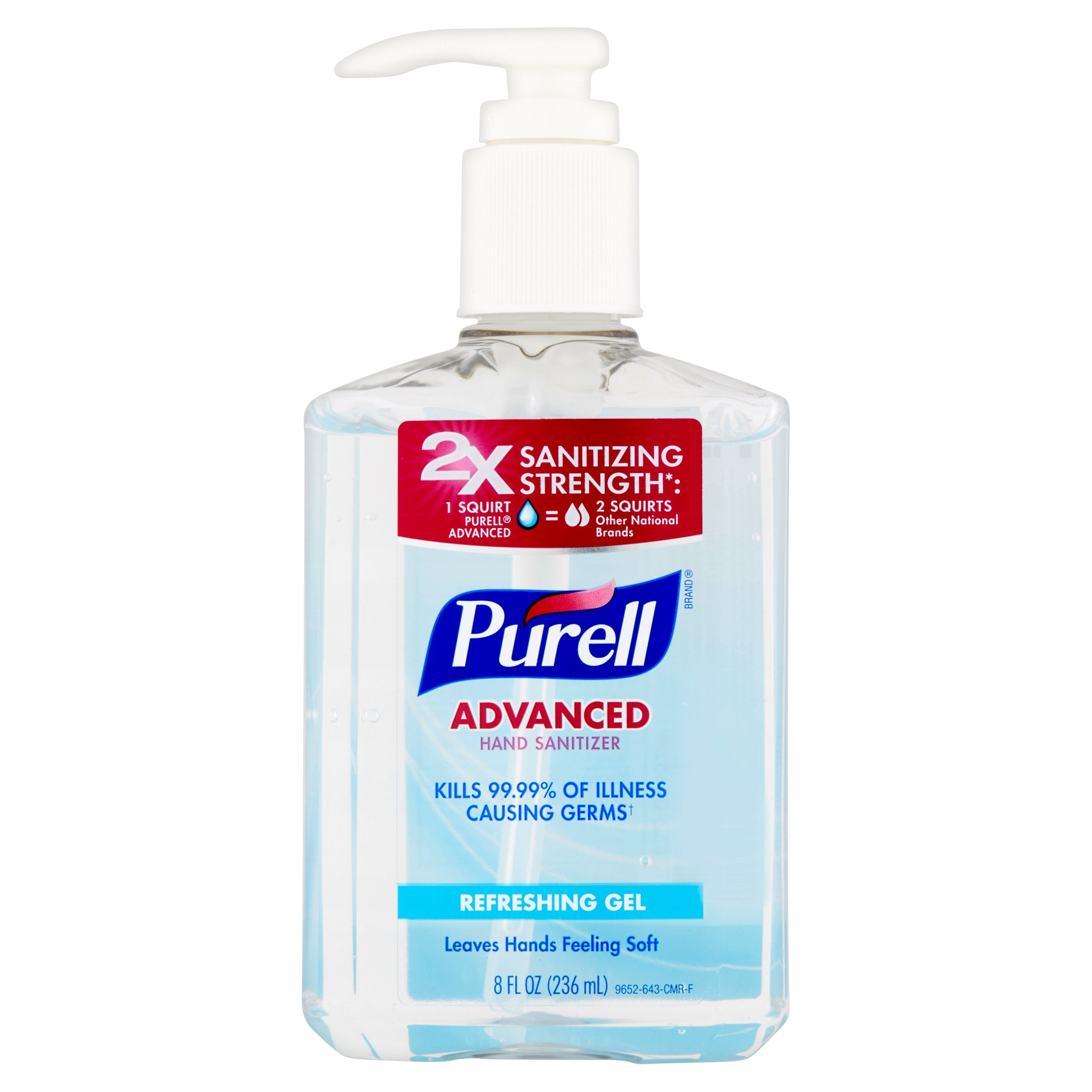 (Pack of 6) Purell Advanced Refreshing Gel Hand Sanitizer, 8 Oz