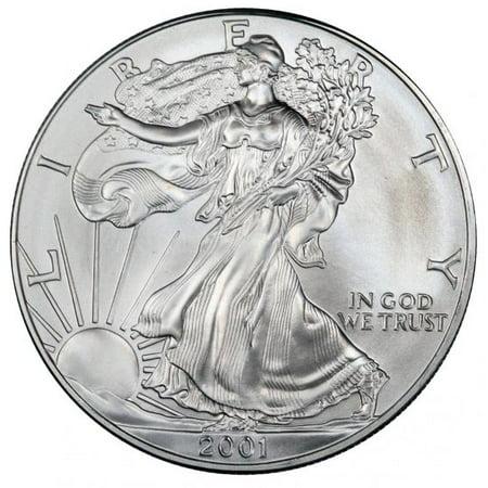 2001 American Silver Eagle 1 oz Silver Coin (2018 Us Silver Eagle Coin)