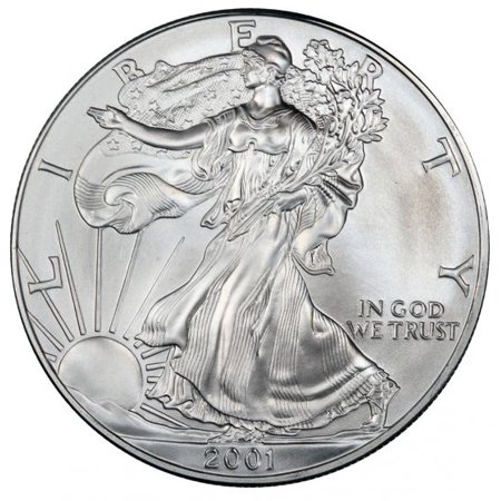 - 2001 American Silver Eagle 1 oz Silver Coin