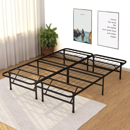 wholesale dealer 17eab c2e74 Platform Bed Frame Queen Metal Base Mattress Foundation No Box Spring  Needed 14 Inch Heavy Duty Steel Noise-Free ,Black