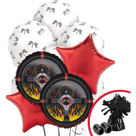 Racecar Racing Party Balloon Bouquet](Balloon Car Design)