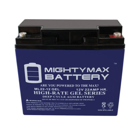 12V 22AH GEL Battery for Kaishan K600W Electric Scooter - image 5 of 6