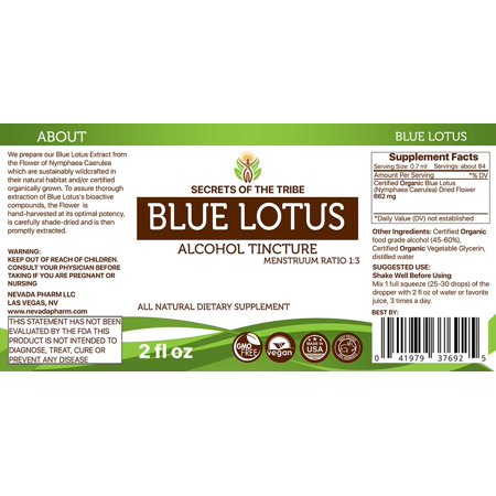 Blue lotus tincture alcohol extract organic blue lotus nymphaea blue lotus tincture alcohol extract organic blue lotus nymphaea caerulea dried flower 2 oz walmart mightylinksfo