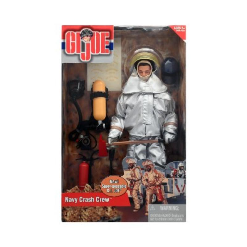 G.I Joe Navy Crash Crew Fire Fighter in Fireproof Suit 12-Inch Action Figure by