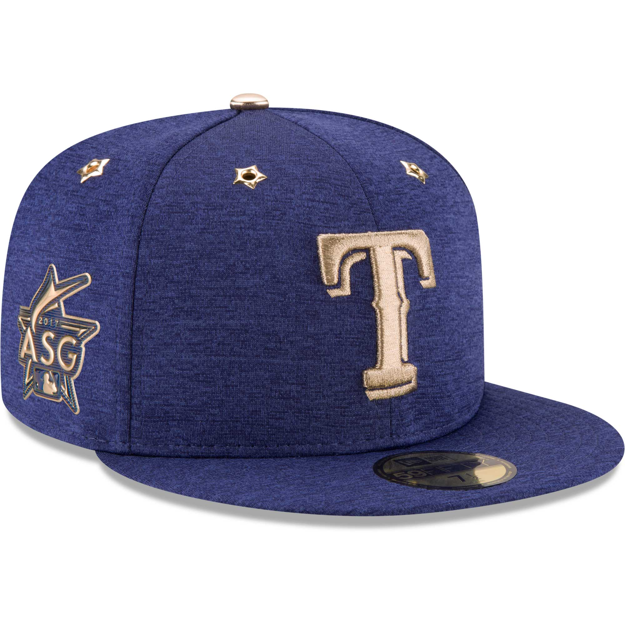 Texas Rangers New Era 2017 MLB All-Star Game Side Patch 59FIFTY Fitted Hat - Heathered Royal