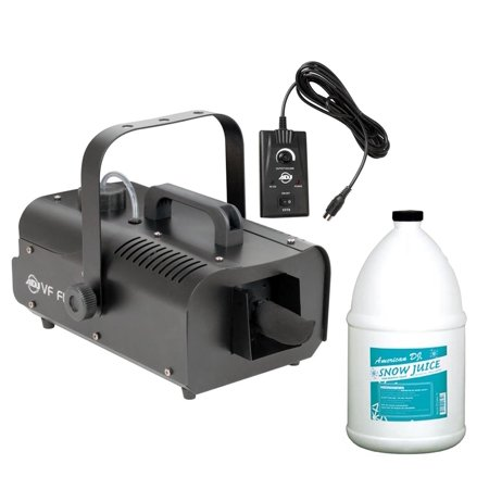 American DJ ADJ VF Flurry Snow Machine Flake Effect w/Remote & Snow Fluid Gallon (Halloween Dj Playlists)