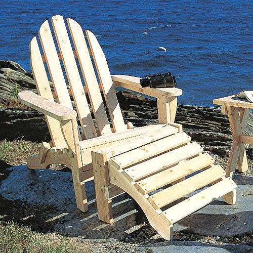 Rustic Natural Cedar Furniture Folding Adirondack Chair & Ottoman Set by Rustic Natural Cedar Furniture Co
