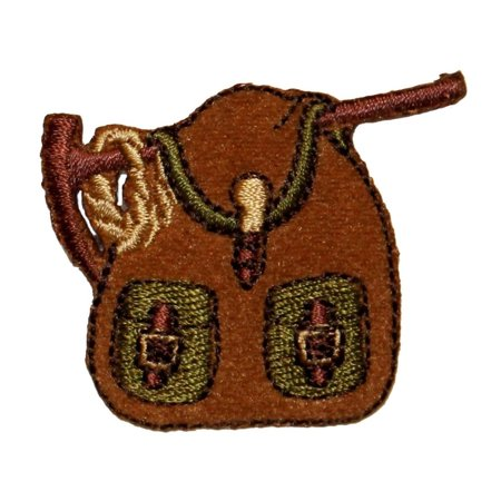 Embroidered Saddlebag - ID 0101 Camping Backpack Patch Saddle Bag Embroidered Iron On Badge Applique