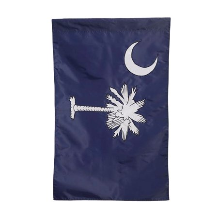 Evergreen Applique South Carolina Garden Flag, 12.5 x 18 inches