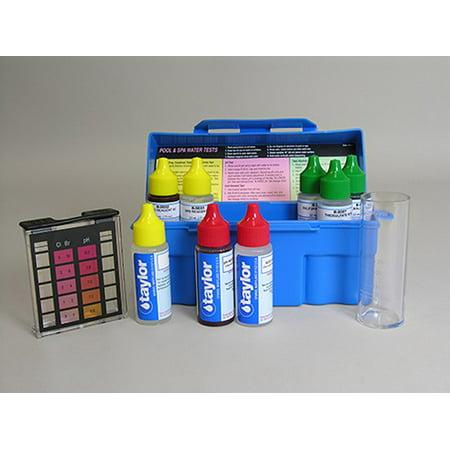 Chloride Test (Taylor K-1004 Safety Plus Swimming Pool Chlorine Bromine pH Alkalinity Test Kit)
