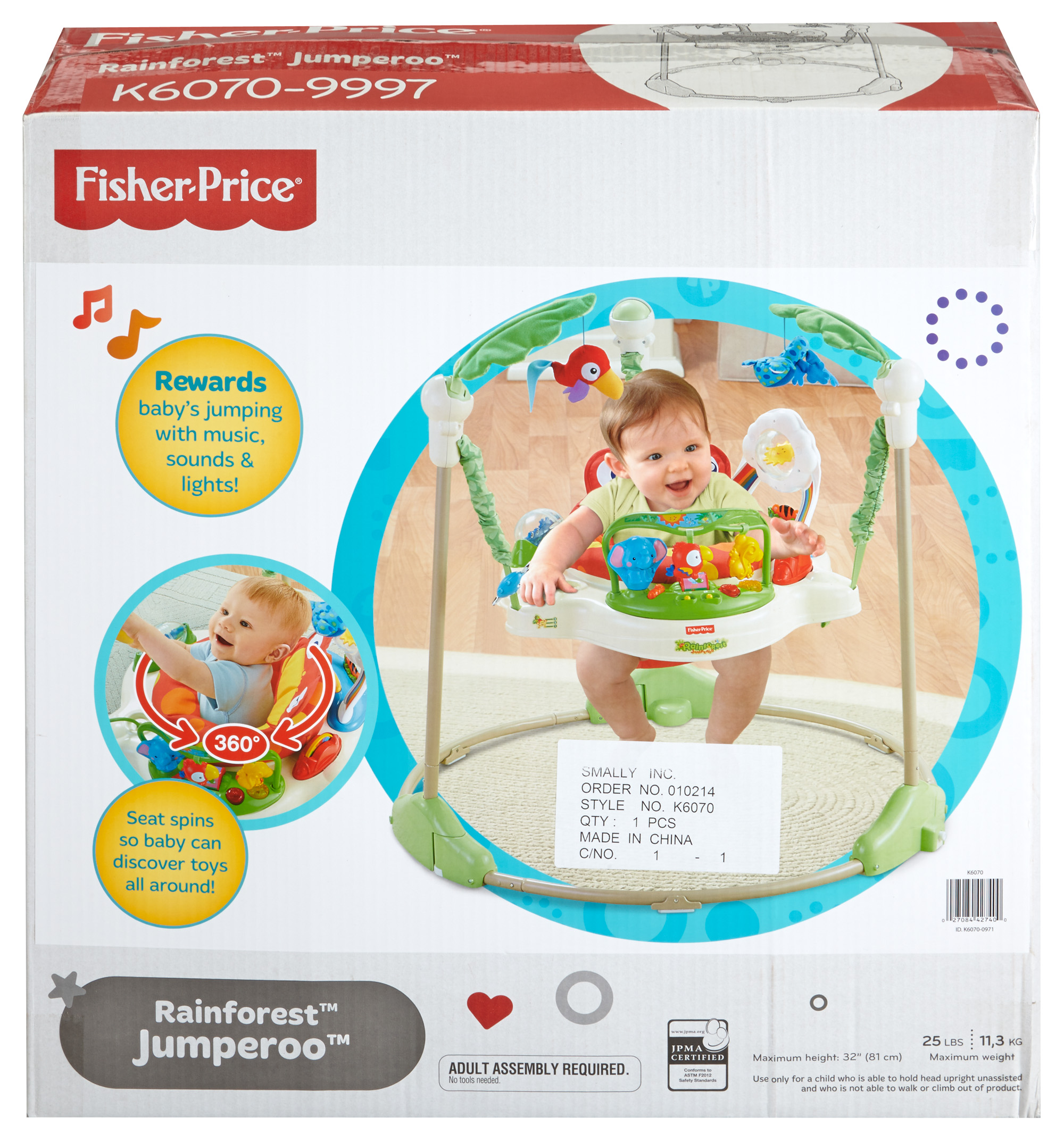 eb0447b129f5 Fisher-Price Rainforest Jumperoo - Walmart.com