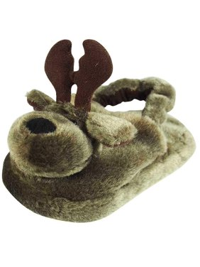 878545597cd3 Product Image Wishpets - Animal Head Slippers brown moose   Small