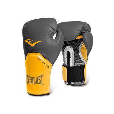 Everlast ProStyle Elite Boxing Gloves, 14oz, GrayOrange