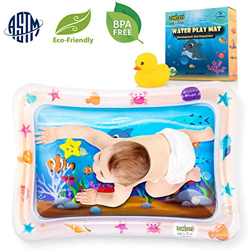 Tummy Time Water Mat Inflatable Baby Water Play mat for 3 6 9 ...
