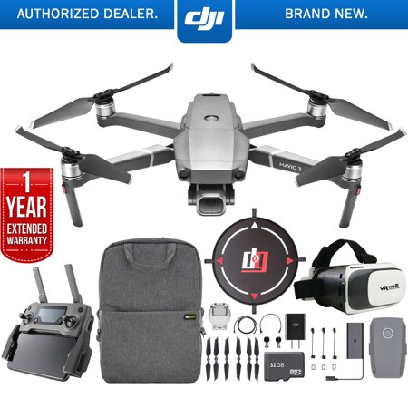 DJI Mavic 2 Pro Drone Mobile Go Kit with Hasselblad Camera 1-inch CMOS Sensor and Landing Pad, VR FPV Goggles, Backpack, High Speed Memory Card & One Year Warranty Extension