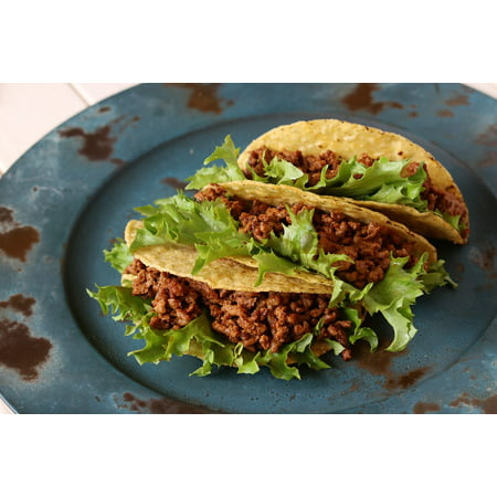 Canvas Print Taco Beef Mexican Food Stretched Canvas 10 x