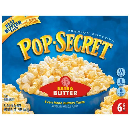 3 Way Popcorn Gift Tin - (3 Pack) Pop Secret Microwave Popcorn, Extra Butter, 3.2 Oz, 6 Ct