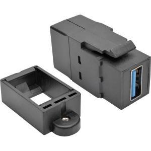 - Tripp Lite USB 3.0 All-in-One Keystone/Panel Mount Coupler (F/F), Black